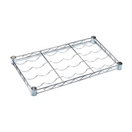 Sistema filo cromo scaffali in acciaio cromato e for Portabottiglie leroy merlin