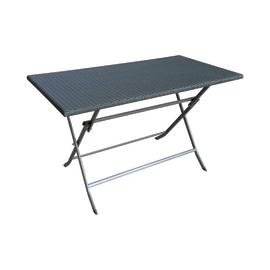 Tavolo pieghevole 120 x 60 cm antracite