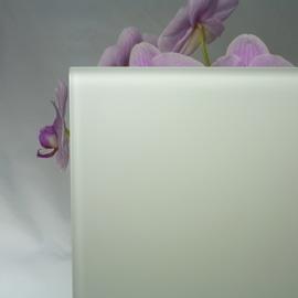 Vetro acidato verniciato bianco 6 mm