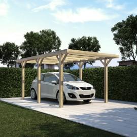 Carport in legno copertura in legno per auto leroy merlin for Pensiline in policarbonato leroy merlin