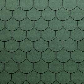 Tegole canadesi coda di castoro Bardoline Pro verde in bitume 100 x 34  cm, spessore 3,4 mm