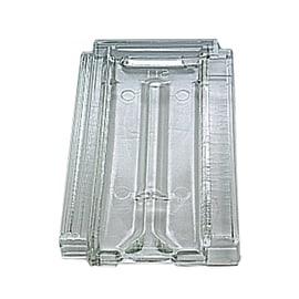 Tegola in vetro marsigliese trasparente liscio 25,5 x 42,6 x 1 cm