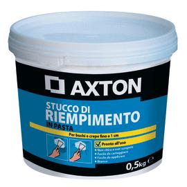 Stucco in pasta Axton Riempitivo liscio bianco 500 g