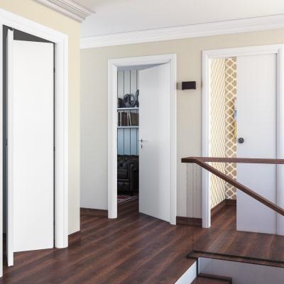 Porta da interno scorrevole pearl bianco 80 x h 210 cm for Leroy merlin porta scorrevole