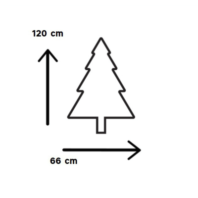 Albero di Natale artificiale Livigno H 120 cm