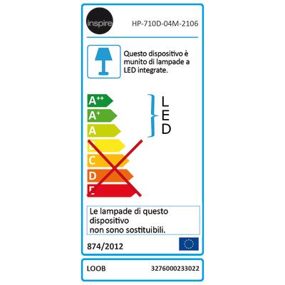 Barra a 4 luci inspire loob cromo led integrato prezzi e for Lampadario led leroy merlin