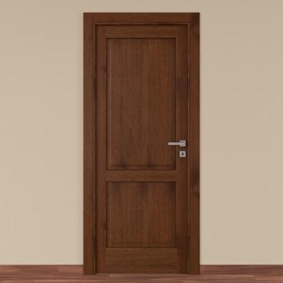 Porta da interno battente Canova rovere noce 60 x H 210 cm sx