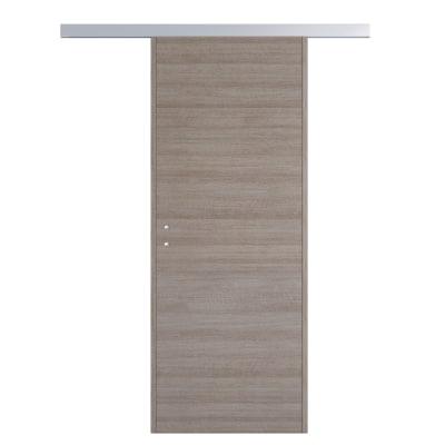 Porta da interno scorrevole One gray Cenere 80 x H 210 cm reversibile