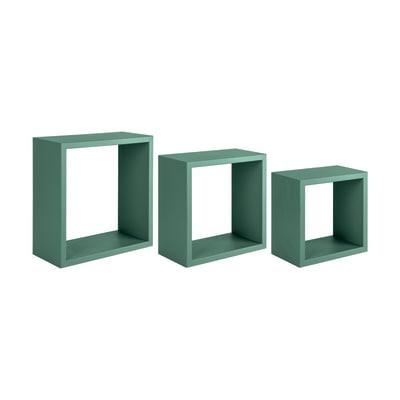 Set 3 cubi Spaceo verde, sp 1,8 cm