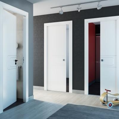 Porta da interno battente Seventy bianco 80 x H 210 cm dx
