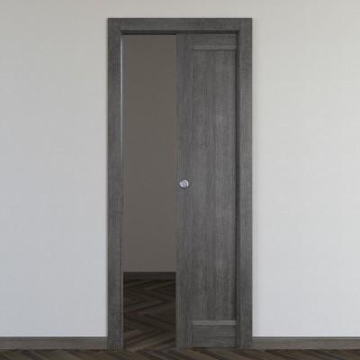 Porta da interno scorrevole Zaniah tabacco 80 x H 210 cm reversibile