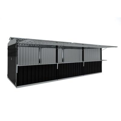 chiosco in metallo Cuba c/mensole 19,13 m², 3 ribalte