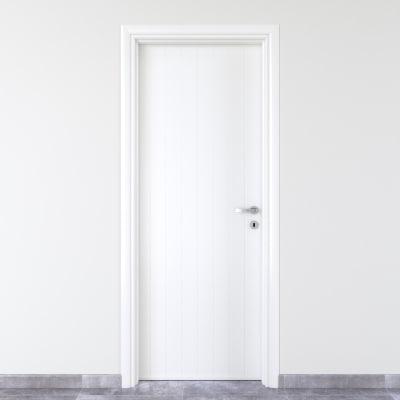 Porta da interno battente Pvc white bianco 70 x H 210 cm sx