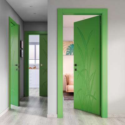 Porta da interno battente Blades green verde 90 x H 210 cm sx