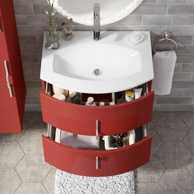 Mobile bagno Sting rosso L 69 cm