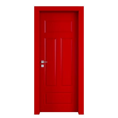 Porta da interno battente Coconut Groove rosso 80 x H 210 cm dx
