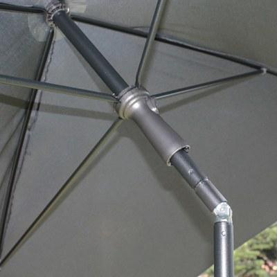 Ombrellone 2,25 x 1,9 m grigio