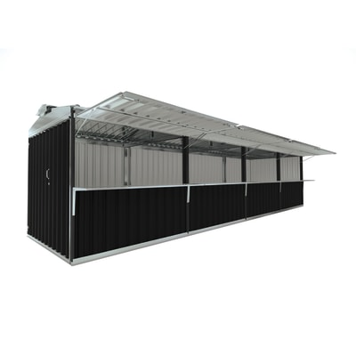 chiosco in metallo Cuba c/mensole 25,55 m², 4 ribalte