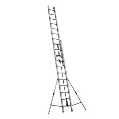 Scala con fune alluminio Facal 2x11 gradini, per lavori fino a 6,8 m