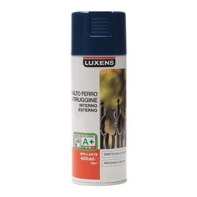 Smalto per ferro antiruggine spray Luxens blu RAL 5003 brillante 0,4 L