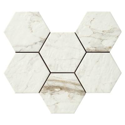 Piastrella Bristol 21 x 18,2 cm bianco