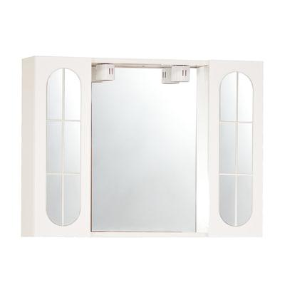 Armadietto a specchio Classica L 92 x H 57 x P  15 cm bianco
