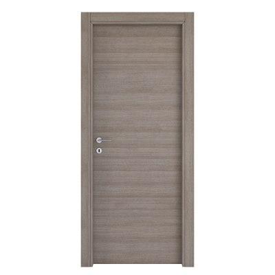 Porta da interno battente One gray cenere 90 x H 210 cm reversibile