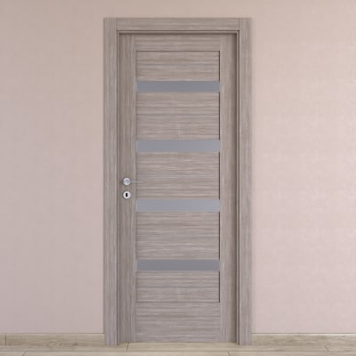 Porta da interno battente Capena 5 sabbia 70 x H 210 cm dx