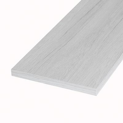 Pannello melaminico rovere bianco 18 x 300 x 1200 mm