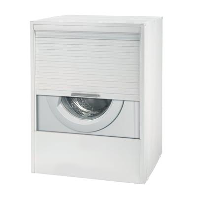 Mobile porta lavatrice Strong RollUP Kit bianco L 67 x P  59,5 x H 91,5 cm