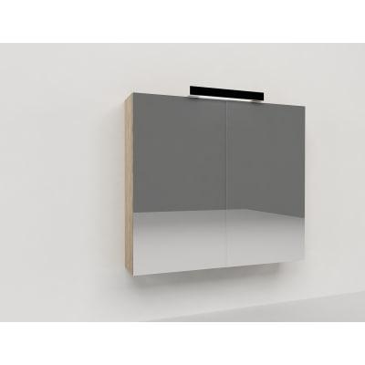 Specchio contenitore Key L 70 x H 62 x P  15 cm rovere