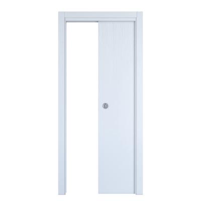 Porta da interno scorrevole Renoir bianco venato 70 x H 210 cm reversibile
