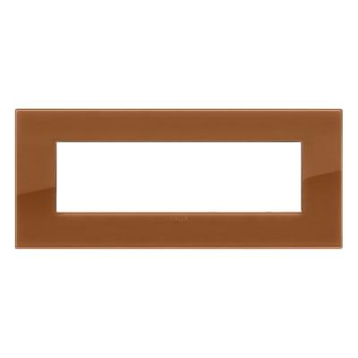 Placca 7 moduli Vimar Arké reflex caramel