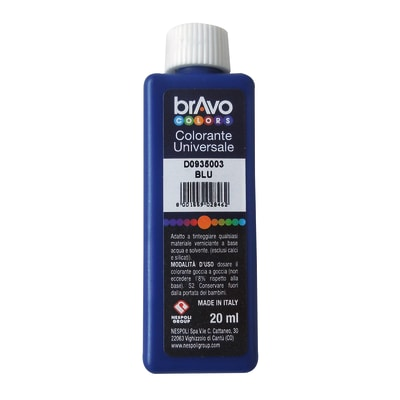 Colorante iperconcentrato ad acqua Bravo blu luce 20 ml