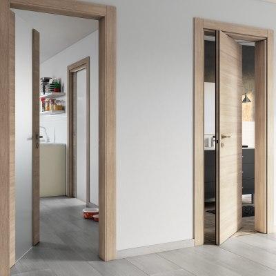 Porta da interno battente Ritz Rosa del deserto 70 x H 210 cm reversibile
