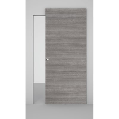 Porta da interno scorrevole Space binario nascosto pietra 101 x H 230 cm dx