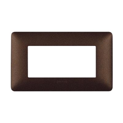 Placca 4 moduli BTicino Matix marrone caffè