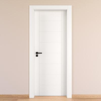 Porta da interno battente Chamberì bianco 90 x H 210 cm dx