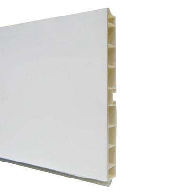 Zoccolino H 15 cm bianco L 300 cm