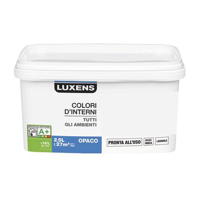 Idropittura lavabile Mano unica Grigio Dorato 5 - 2,5 L Luxens