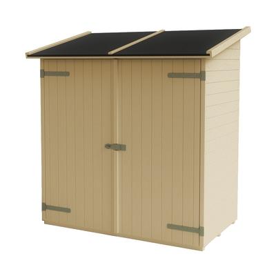 casetta in legno grezzo Lerici 1,02 m², spessore 14 mm