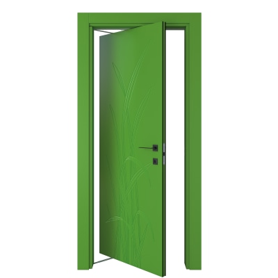 Porta da interno rototraslante Blades green verde 80 x H 210 cm sx