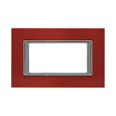 Placca 4 moduli BTicino Axolute rosso china