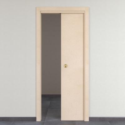 Porta da interno scorrevole Saint Germain grezza 70 x H 210 cm reversibile