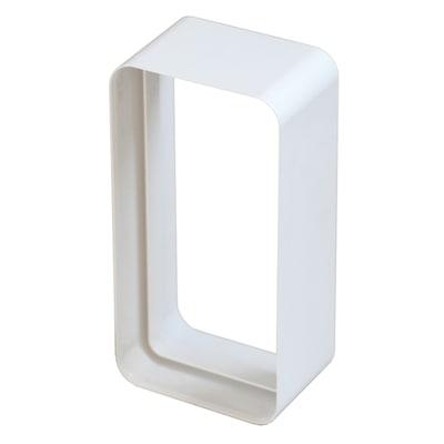 Raccordo diritto Giunto semplice per tubo di aerazione rettangolare bianco L 6 - 12 cm