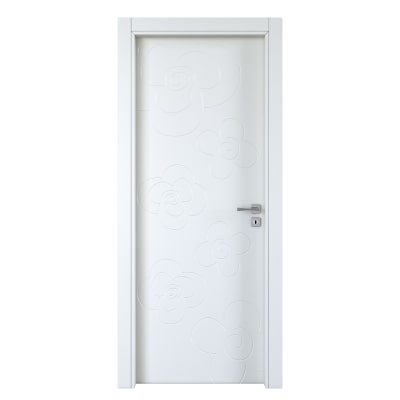 Porta da interno battente Flower silk 80 x H 210 cm sx