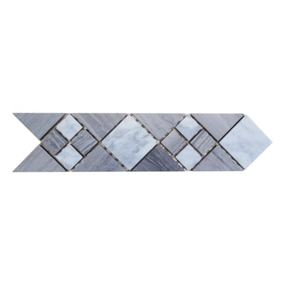 Fascia Stoccolma bianco,grigio 7 x 28 cm