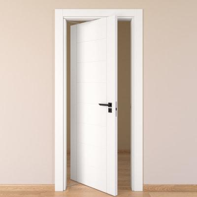 Porta da interno rototraslante Chamberì bianco 70 x H 210 cm sx