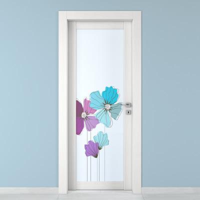 Porta da interno battente Eden larice bianco 70 x H 210 cm sx