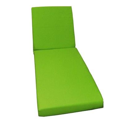 Cuscino lettino verde chiaro 56 x 186 cm